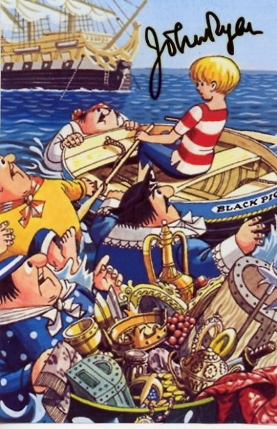John Ryan Autograph Signed - Captain Pugwash